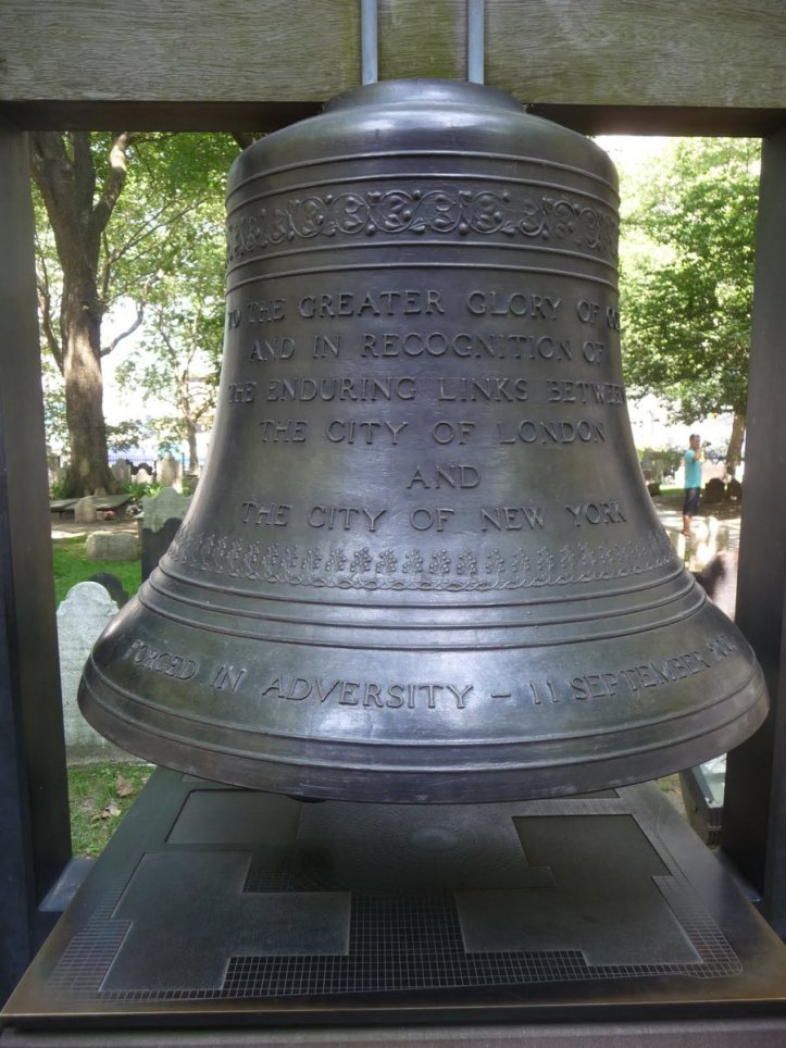 The Bell of Hope in the 9_11 Memorial Garden, Manhattan